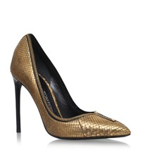 Tom Ford Zipped Court Shoes 105 Female Gold
