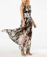 Inc International Concepts I.N.C. Ruffled Maxi Dress Created For Macy's Green