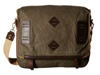 Will Leather Goods Mirror Lake Messenger Olive Messenger Bags