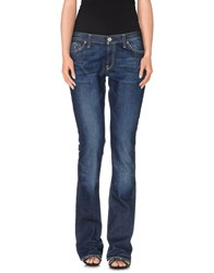 Guess Jeans Denim Denim Trousers Women Blue