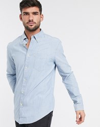 Ben Sherman Slim Fit Chambray Shirt Blue