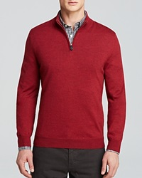 The Men's Store At Bloomingdale's Merino Quarter Zip Mockneck Sweater Bloomingdale's Exclusive Red Cape
