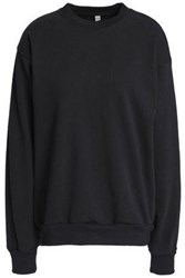Oak Cotton Fleece Sweatshirt Black
