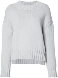 Sally Lapointe Loose Fit Jumper Grey