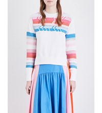 Peter Pilotto Arrow Detailed Knitted Jumper White