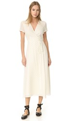 Jenni Kayne Wrap Dress Ivory Black