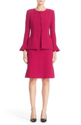 Oscar De La Renta Women's Bell Sleeve Stretch Crepe Jacket