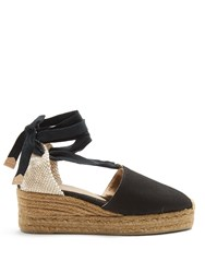 Castaner Campina Canvas Wedge Espadrilles Black