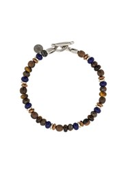 Eleventy Multi Bead Bracelet Brown