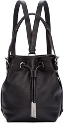 Opening Ceremony Black Leather Mini Izzy Backpack