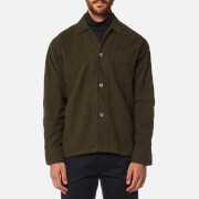 Our Legacy Men's Box Long Sleeve Shirt Olive Ultimate Flannel Green