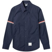 Thom Browne Snap Front Shirt Jacket Blue
