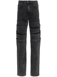 Y Project Layered Denim Jeans Black