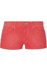 Etoile Isabel Marant Noelia Cotton And Linen Blend Shorts Red