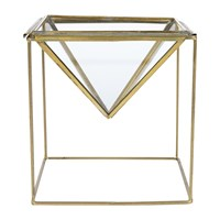 Nkuku Karana Planter On Stand Antique Brass