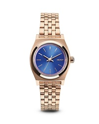 Nixon The Small Time Teller Watch 26Mm Rose Gold Cobalt