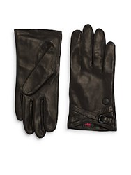 Vince Camuto Leather Gloves Black