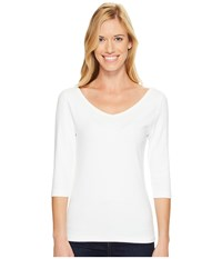Royal Robbins Kickback To Front 3 4 Sleeve Top White Women's Long Sleeve Pullover