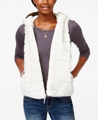 American Rag Hooded Faux Fur Vest Only At Macy's Ivory