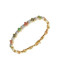 Lord And Taylor 18K Yellow Goldplated Multi Stone Tennis Bracelet