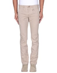 Siviglia White Trousers Casual Trousers Men Beige