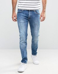 Wrangler Skinny Low Rise Jean In In The Zone Wash Blue