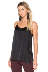 Theory Odete Satin Tank Black