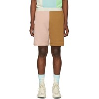 Lacoste Pink And Brown Golf Le Fleur Edition Bermuda Shorts