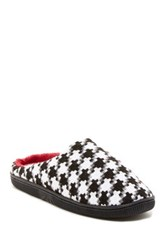 Isaac Mizrahi Blanca Houndstooth Slipper Red