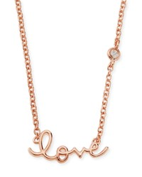 Rose Gold Love Pendant Bezel Diamond Necklace Shy By Sydney Evan