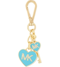 Michael Michael Kors Enamel Heart And Key Charm Aquamarine