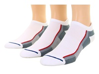 Wrightsock Xfit Tab 3 Pair Pack White Grey Low Cut Socks Shoes