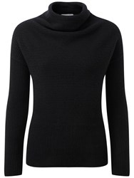 Pure Collection Dacre Drape Neck Gassato Cashmere Jumper Black