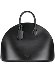 Calvin Klein Round Tote Bag Women Leather One Size Black