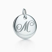 Tiffany And Co. Notes Alphabet Disc Charm In Silver Small. Letters A Z Available. Sterling Silver