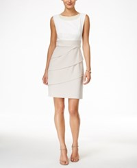 Connected Pearl Embellished Tiered Sheath Dress
