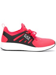 Emporio Armani Ea7 Runner Sneakers Pink And Purple