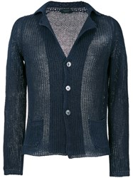 Zanone V Neck Cardigan Blue