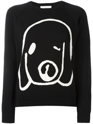 Peter Jensen Dog Intarsia Jumper Black