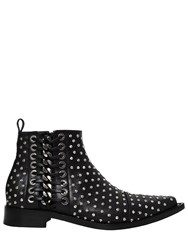 Alexander Mcqueen 20Mm Braided Chain Studs And Leather Boots