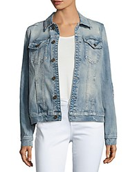 Driftwood Long Sleeve Denim Jacket Light Blue