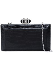 Judith Leiber Couture Rectangle Clutch Bag Leather Black