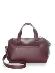 Jason Wu Textured Leather Crossbody Bag Burgundy