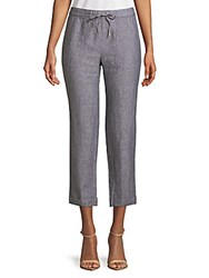 Saks Fifth Avenue Cropped Linen Pants Graphite