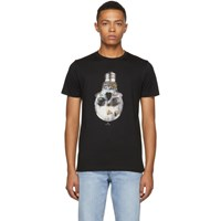 Paul Smith Ps By Black Slim Fit Skull T Shirt