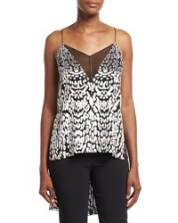 Adam By Adam Lippes High Low Illusion V Cami Top Black Pattern