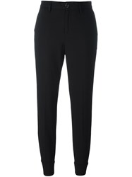 7 For All Mankind Tapered Trousers Black