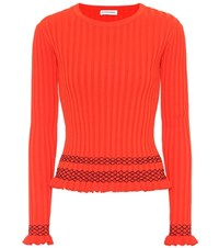 Altuzarra Malou Embroidered Ribbed Knit Sweater