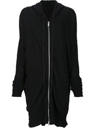 Unravel Project Boiled Oversized Zip Hoodie Black
