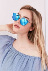 Urban Outfitters Siesta Key Brow Bar Sunglasses Blue